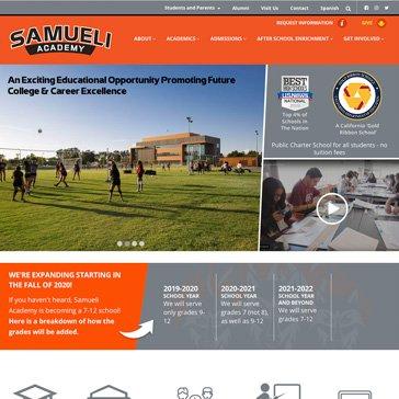 Samueli Academy Website by Root Marketing