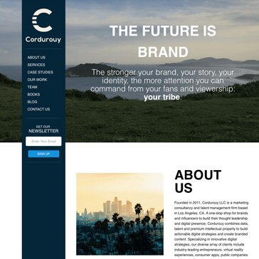 Cordurouy Website by Root Marketing