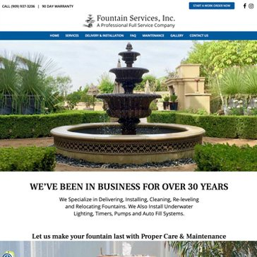Fountain Services Website by Root Marketing