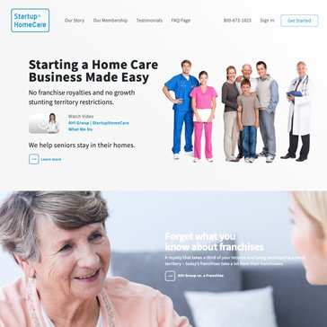 Startup Home Care Website by Root Marketing