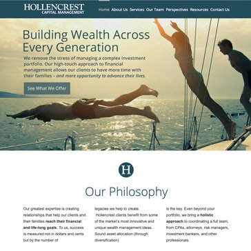 Hollencrest Financial website By Root Marketing