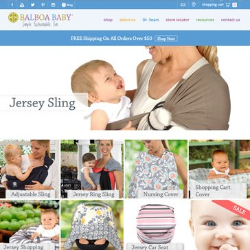 Balboa Baby Website by Root Marketing