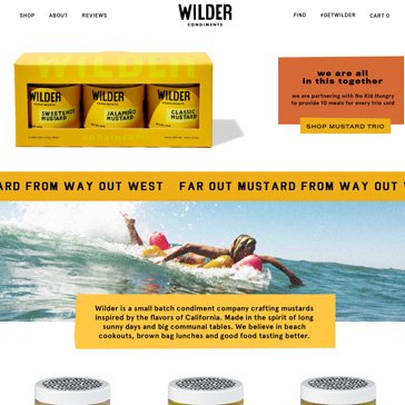 Wilder Condiments - Website Design by Root Marketing