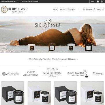 Rejoy Living - Website Design by Root Marketing