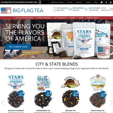 Big Flag Tea Website by Root Marketing