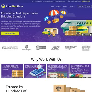 Low Ship Rate Website by Root Marketing
