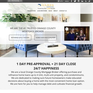 Mares Mortgage Website by Root Marketing