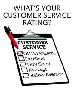 What's your customer service rating?